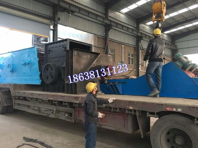 石料生产线整套设备发货现场