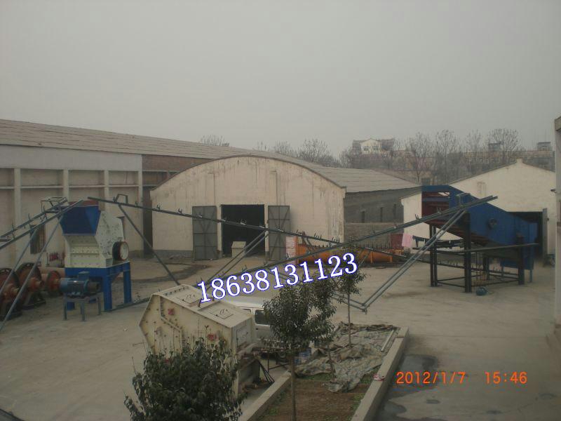 框架式制砂生产线试机现场